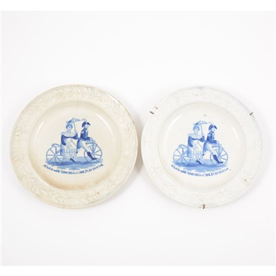 Lot 7A-Pair of early 19th Century pearl ware plates.