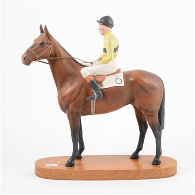 Lot 10-Beswick, Arkle with Pat Taffee Up, a Connoisseur model