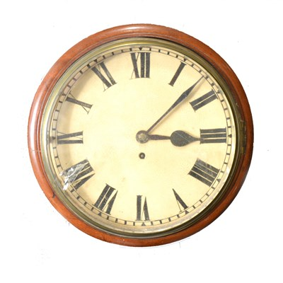Lot 108-A mahogany framed wall clock