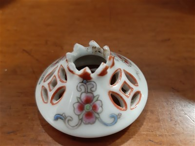 Lot 59-Small Chinese famille rose ginger jar