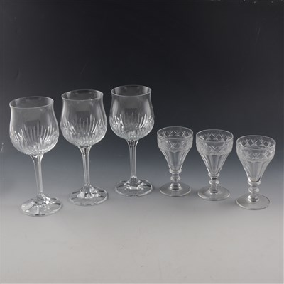 Lot 22-Richardson cut crystal suite of table glass.