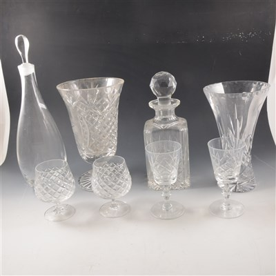 Lot 39-Cut and moulded glassware