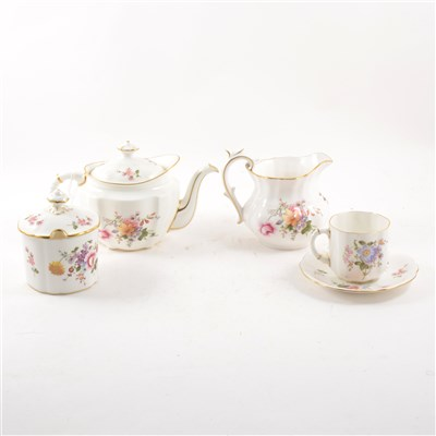 Lot 37-Royal Crown Derby part teaset, Posies pattern, and other Derby ware