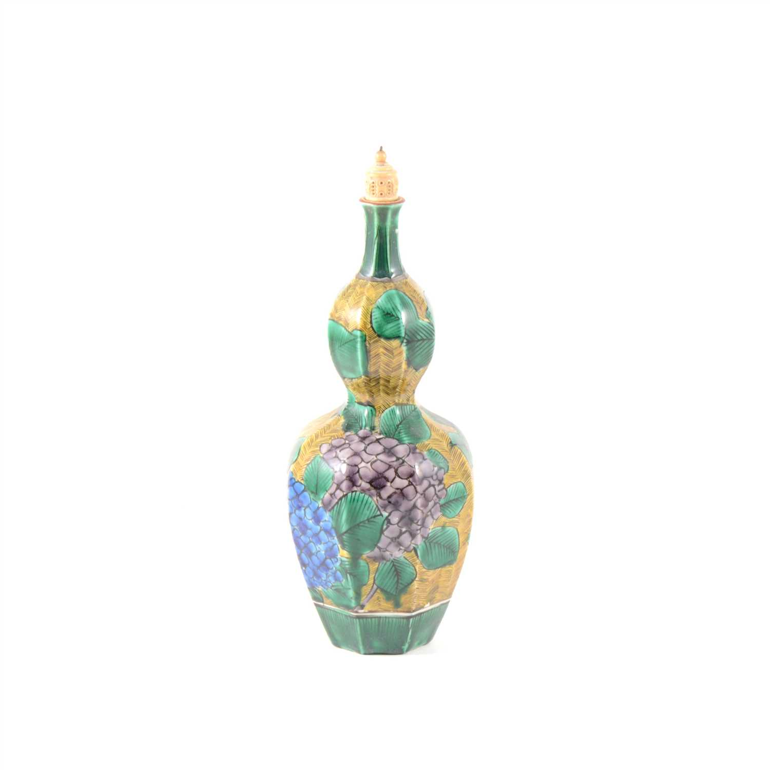 Lot 16-Sino-Indian double gourd shape bottle, 19th century