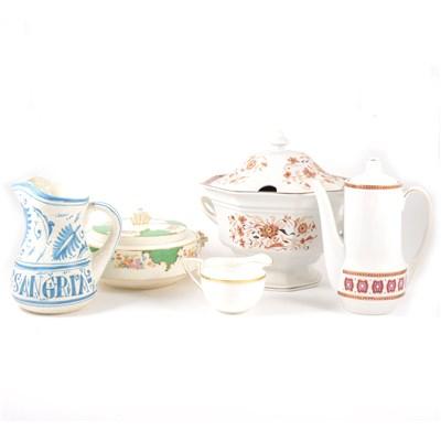 Lot 18-Worcester bone china part teaset, Viceroy pattern, ...