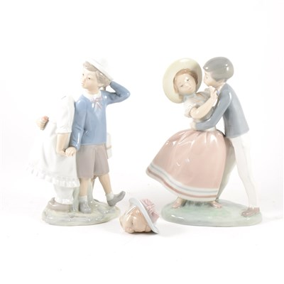 Lot 21-A Lladro group of a boy and girl, ...