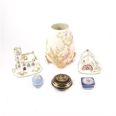 Lot 37-Clarice Cliff, Newport pottery vase, ...