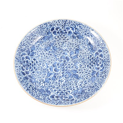 Lot 9-Chinese blue and white charger