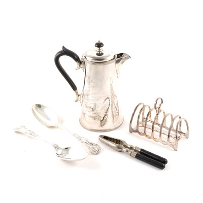 Lot 120-Quantity of silver plated wares, including an EPB hot water jug, ...