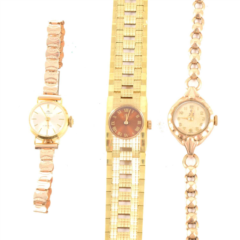 Rolex Tudor Royal and Bucherer - a lady's 9 carat yellow gold Rolex Tudor...