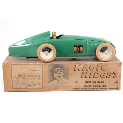 Lot 68 - An impressive example of the Tri-ang Magic Midget record breaking car, boxed.