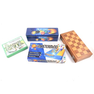 Lot 115-Turned wood Staunton pattern chess set, and other board games