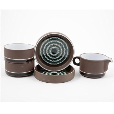 Lot 40-Hornsea stoneware dinner and tea service, Muramic design