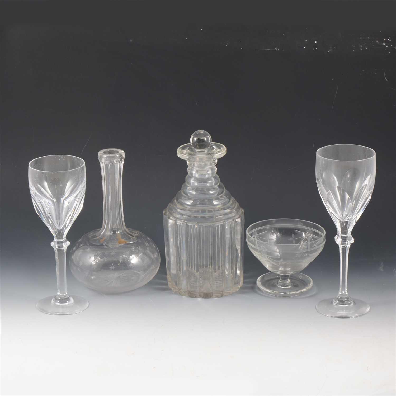 Lot 39-A part set of Atlantis crystal wine glasses