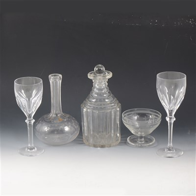 Lot 39-A part set of Atlantis crystal wine glasses