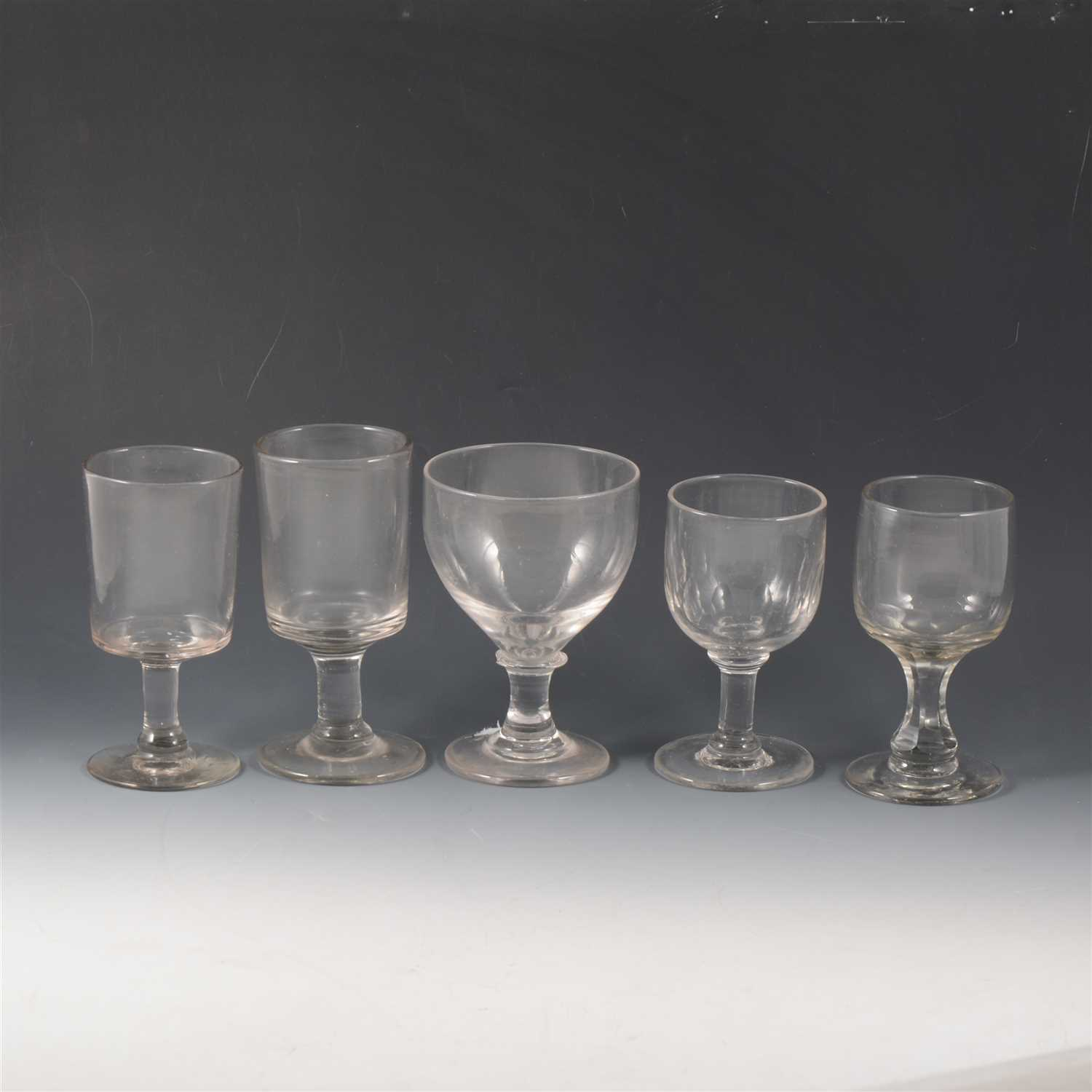 Lot 56-Victorian tavern rummers, and other table glassware.