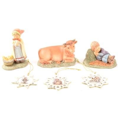 Lot 9-Hummel nativity figures, from the Berta Hummel Nativity