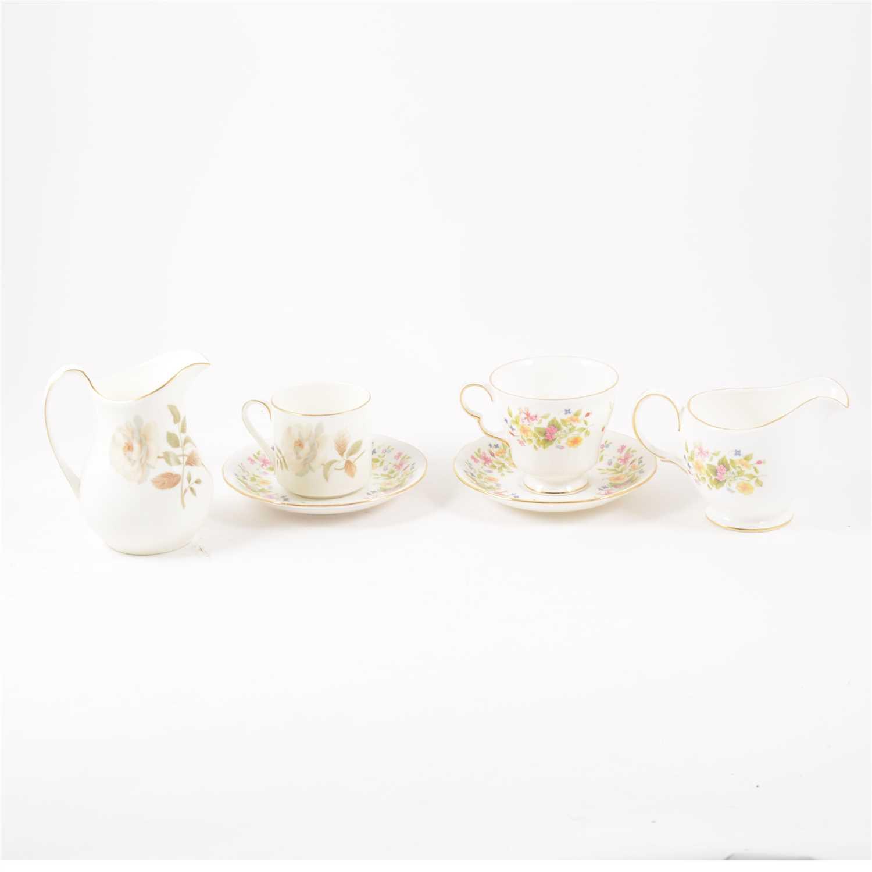 Lot 52-A Royal Doulton bone china part coffee set, Yorkshire Rose pattern; etc