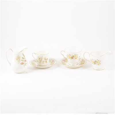 Lot 52-A Royal Doulton bone china part coffee set, Yorkshire Rose pattern; etc