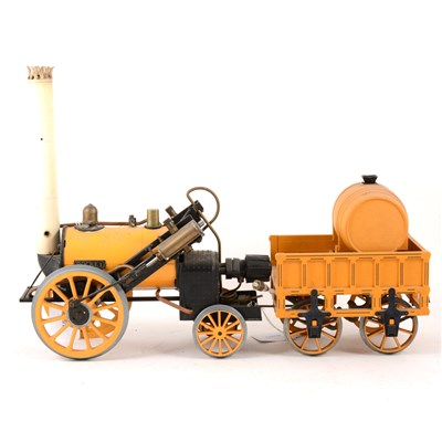 "Lot 48-Hornby live steam model of Stephenson's ""Rocket"" with wagon"