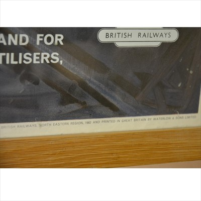 Lot 46-Terence Cuneo; 1960s British Railways advertising poster 'Service to Industry' signed by Terence Cuneo