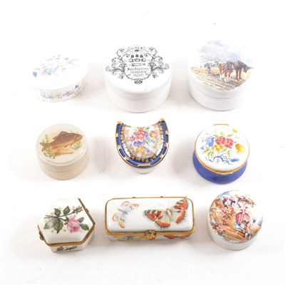Lot 6-Collection of Limoges and other porcelain boxes