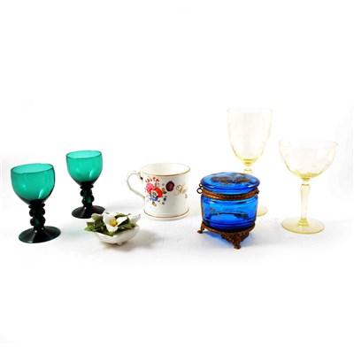 Lot 55-Victorian bone china mug; Harriet Statham, 1843