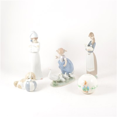 Lot 20-A quantity of Lladro, Nao and other Spanish pottery.