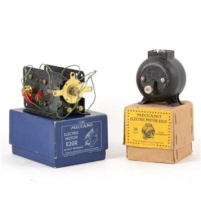 Lot 56-Two Meccano electric motor E020 and E20R.