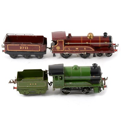 Lot 38-Two Hornby O gauge railway locomotives, LMS 2711 and LNER 1842