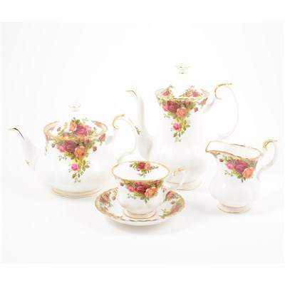 Lot 45-Collection of Royal Albert Old Country Roses pattern tea and coffee ware