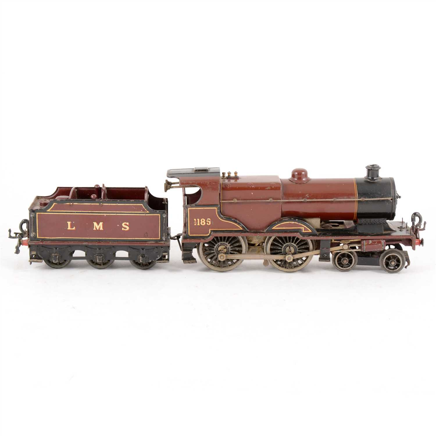 Lot 36-Hornby O gauge 4-4-0 LMS special clock-work compound locomotive.