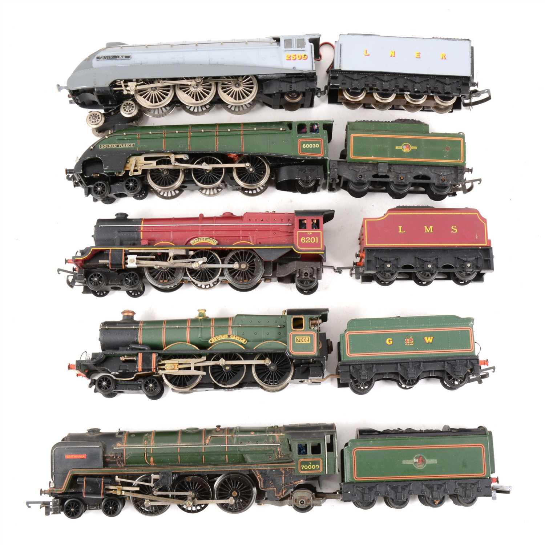 Lot 9-OO gauge model railway locomotives, five including 'Golden Fleece' by Hornby.