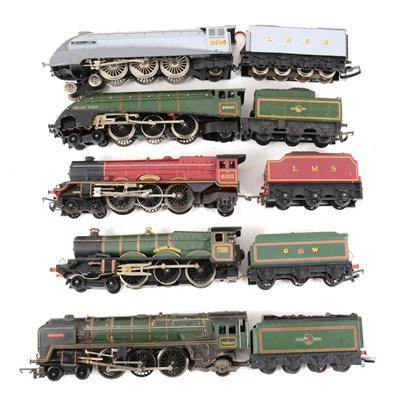 Lot 9-OO gauge model railway locomotives, five including 'Golden Fleece' by Hornby.