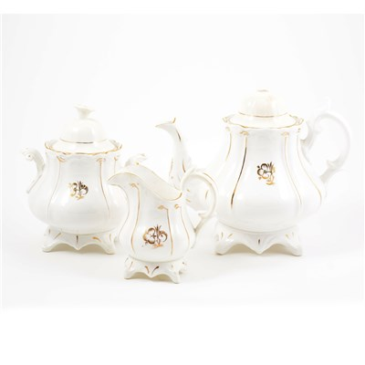 Lot 3-A Staffordshire earthenware teaset