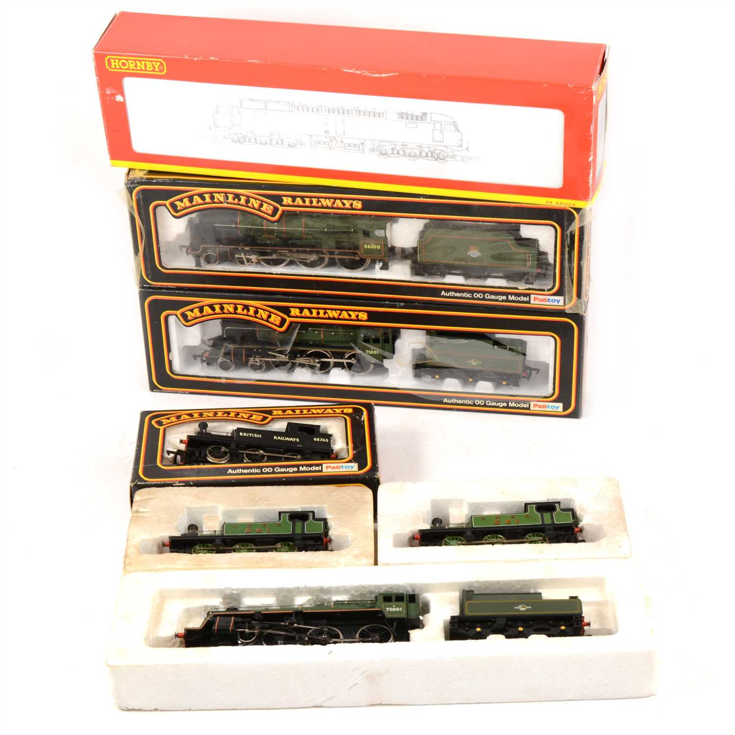 Lot 16-OO gauge model railway locomotives; seven by Hornby and Mainline.