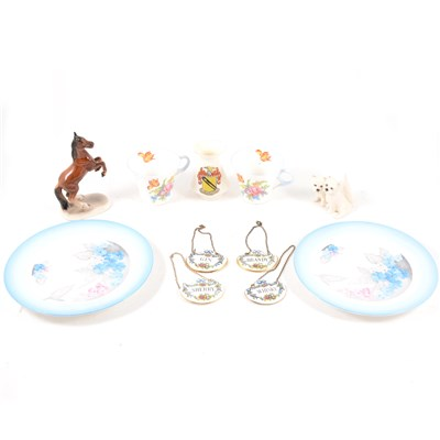 Lot 23-Shelley bone china tea cup and saucer, Phlox; ...