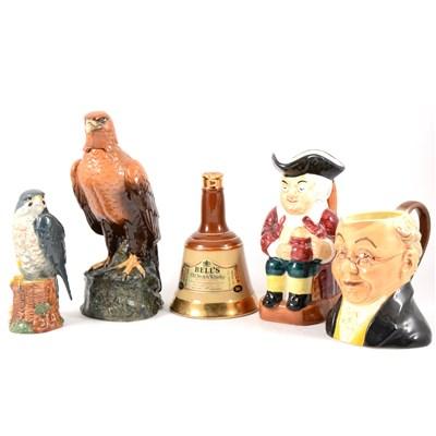 Lot 28-Royal Doulton Scotch Whisky Golden Eagle decanter