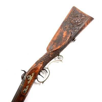 Lot 204-German percussion hunting rifle, by V. Chr. Schilling