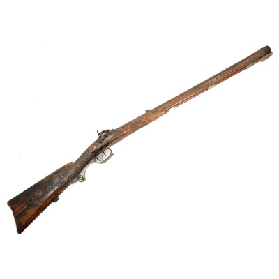 144 - German percussion hunting rifle, by V. Chr. Schilling