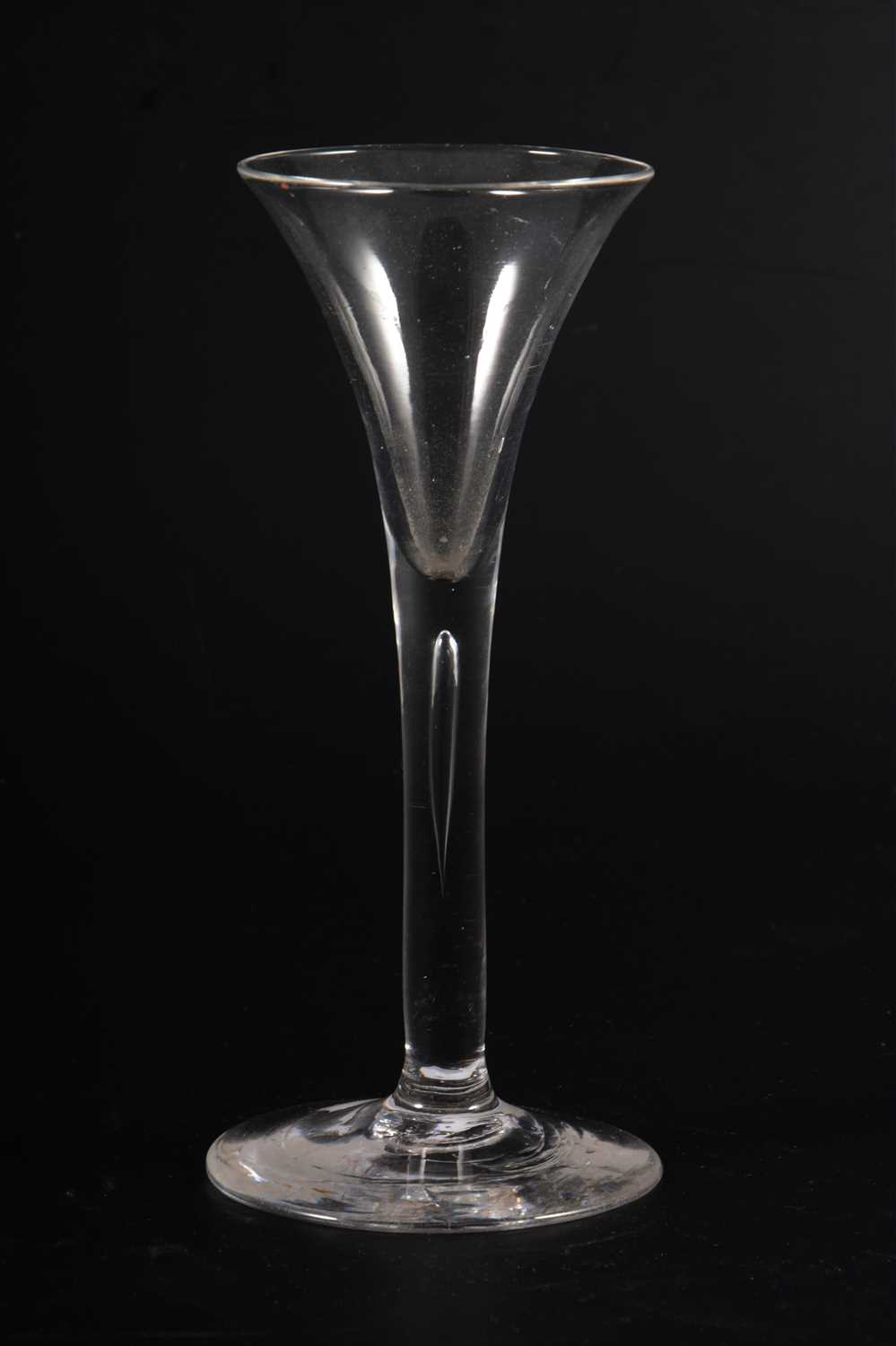Lot 501-An English conical-shape wine glass, ...