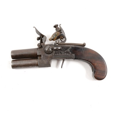 Lot 139-Double barrel flintlock pistol, by Egg, London
