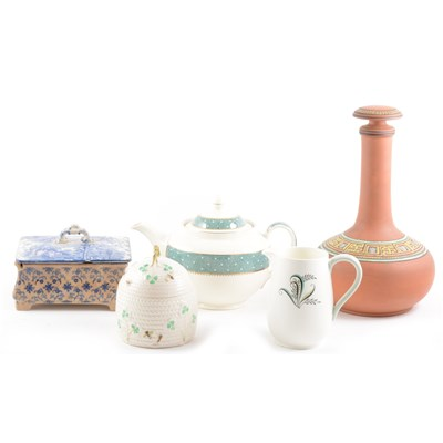 Lot 52-Wedgwood bone china teaset, Swallow pattern; and other teaware