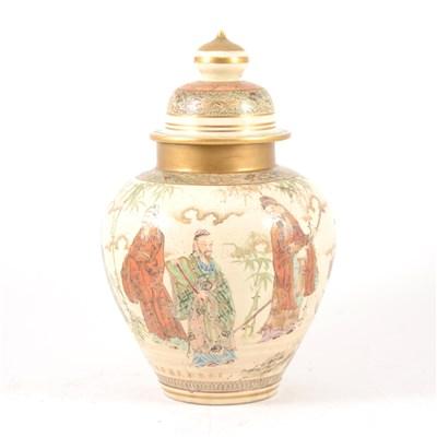 Lot 13-A Japanese satsuma ginger jar