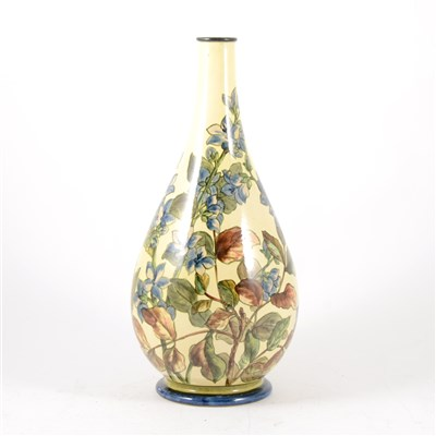 Lot 22-A Doulton Faïence vase decorated with blue flowers