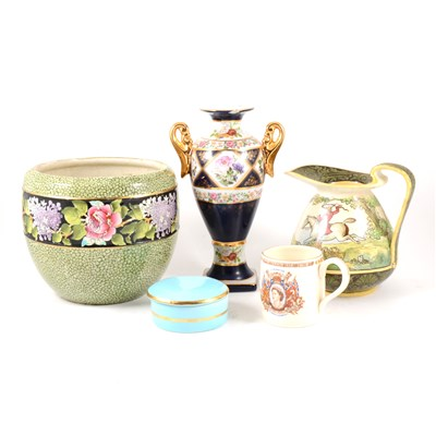Lot 7-Doulton Burslem jug, George Morland, 19cm; decorative and household china, (2 boxes)