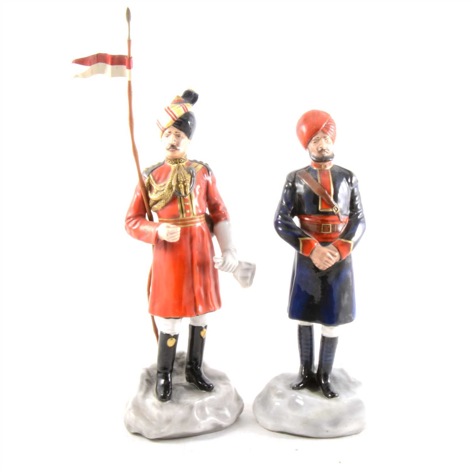 Lot 15-Two limited edition military porcelain figures by Michael Sutty