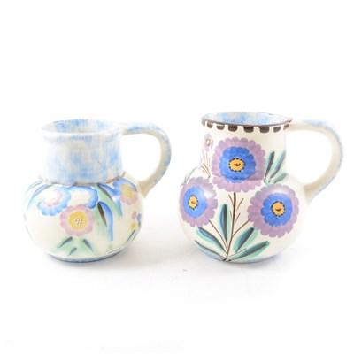 Lot 29-Two Mattone Ware vases