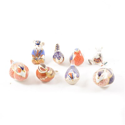 Lot 5-A collection of Royal Crown Derby paperweights