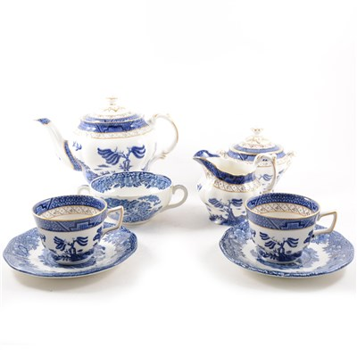 """Lot 59-Booths """"Real Old Willow"""" tea service"""
